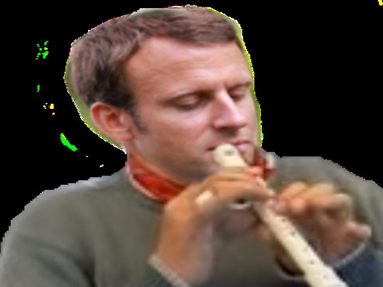 Sticker macron menteur pipo flute politique