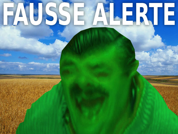 Sticker alerte nucleaire hoax fausse fake risitas champs