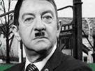 Sticker melenchon nazi hitler noir et blanc 6 milliards juifs cendre
