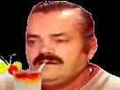 Sticker perplexe cocktail boisson