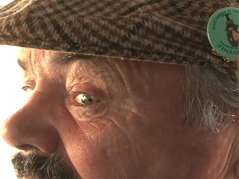 Sticker regard travers oeil yeux risitas gene espionne lorgne lorgner