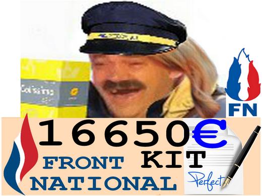 Sticker fn kit marine pen colis facteur livreur postier arnaque risitas rire signature facture paye issou commande