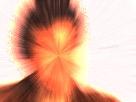 Sticker jesus issou flamme feu demon enfer rouge