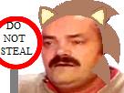 Sticker original character do not steal sonic risitas panneau meme