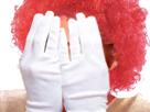 Sticker risitas clown la chanclown malaise nez rouge gants