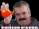 Sticker hencoak47 risitas poisson avril fish mouchoir