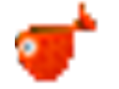 Sticker fish poisson avril orange