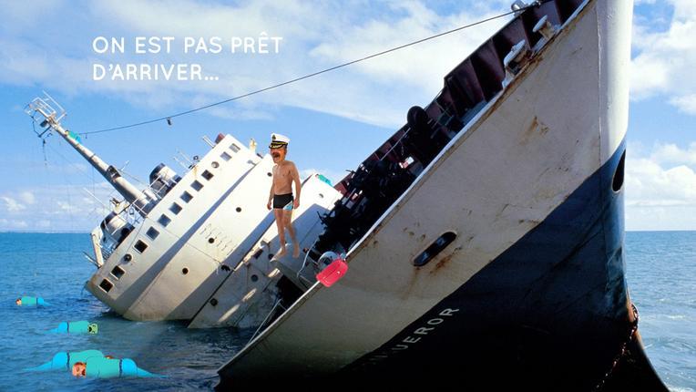 Sticker risitas colonissou naufrage titanic kheys assou republique populaire issou rpi