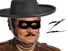 Sticker zorro mexicain moustache jesus