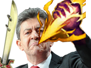Sticker league of legends lol jungler smite sort magie melenchon force explosion eclair