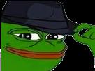 Sticker pepe the frog casquette sournois mepris meprisant wesh racaille chapeau inspecteur