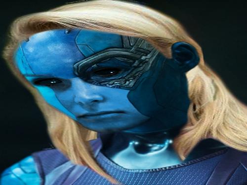 Sticker pen lepen fn marion nebula thanos marvel alien vilain ovni peur blonde avengers galaxie colere star fille femme meuf
