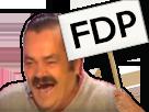 Sticker panneau fdp fils de pute insultes