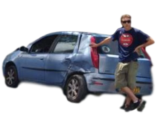 Sticker jboy jeune conducteur a auto ecole auto ecole accident tonneau fdp fiat punto forum auto fa florinw
