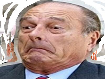 Sticker chirac etonne surpris president flag grimace lr president vieux pere directeur patron fillon juge fou choque pardon