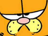 Sticker garfield dessin anime chat grumpy grognon zoom colere visage