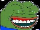 Sticker pepe the frog rire dent sourire ironie pleurs pleurer sarcasme jpp