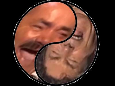 Sticker issou jesus risitas yin yang yinyang