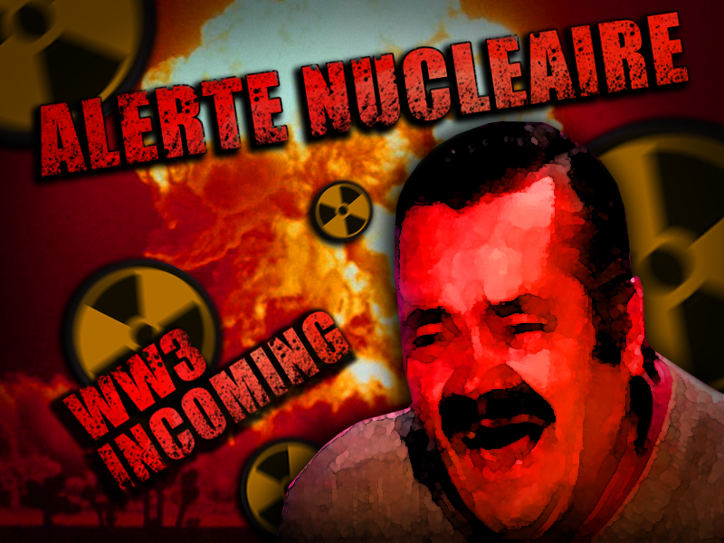 Sticker alrte nucleaire ww3 war incoming