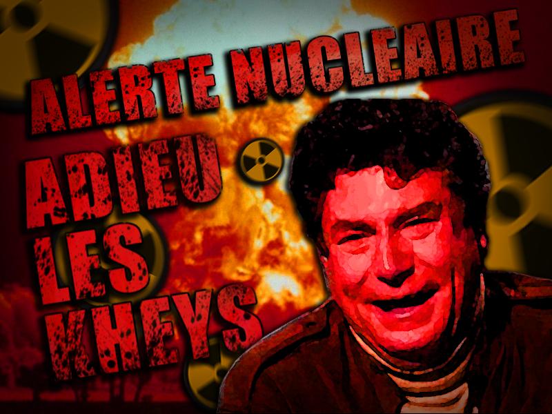 Sticker alerte nucleaire ww3 adieu