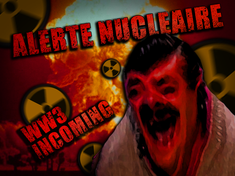 Sticker alerte nucleaire war incoming