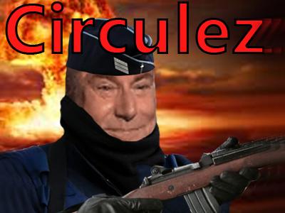 Sticker circulez nuke ww3 jesus issou fin du monde