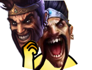 Sticker league of legends lol draven champion ego orgueil fier hache noxus twist masque jvc hap noel sourire mauvais