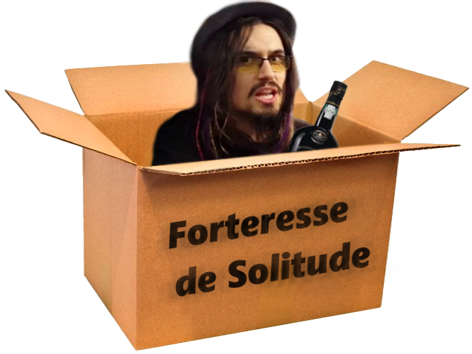 Sticker totoss boite carton sardine forteresse solitude