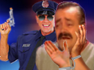 Sticker gilbert gign police signal gouv chicoree cafe pistolet gun arme attrape menotte pls sueur fuite alerte