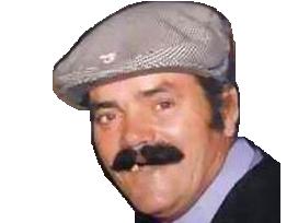 Sticker beret jeune moustache