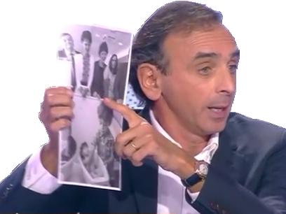 Sticker zemmour papier feuille preuve photo