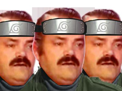 Sticker risitas konoha ninjas plusieurs groupe
