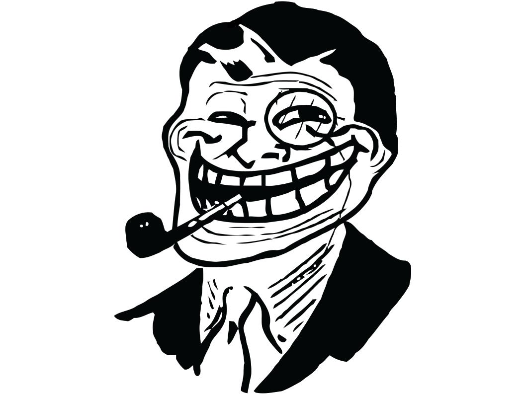 Sticker troll dad gentleman meme trollface