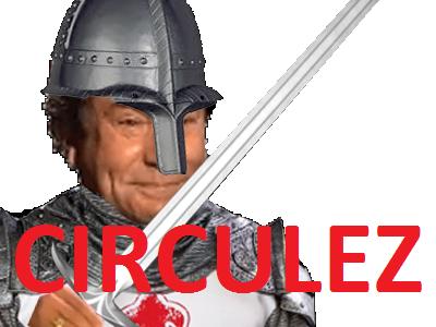 Sticker jesus issou medieval moyen age chevalier circulez rien a voir oui madame