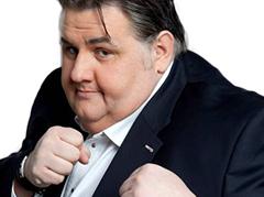 Sticker pierre menes obese fight foot