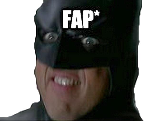 Sticker risitas batman fap signaleur branlette