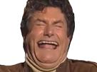 Sticker jesus rire deforme bouche