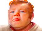 Sticker risitas bebe pleure triste faim larme stp au secours fn jesus cri bouche