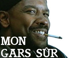 Sticker other denzel washington mon gars neggro sur sur my mah nigga sourire clope cigarette