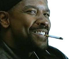 Sticker other denzel washington my mah nigga sourire clope cigarette