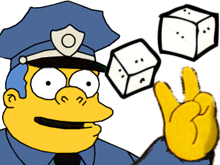 Sticker other gilbert police deux sucres simpsons