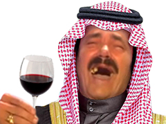 Sticker risitas emir prince arabe fou rire jesus voile islam