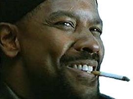 Sticker other denzel washington my mah nigga sourire clope cigarette zoom