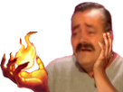 Sticker risitas league of legends lol embrasement ignite sort invocateur feu fire flamme bruler mage noir pyromane magie sorcellerie