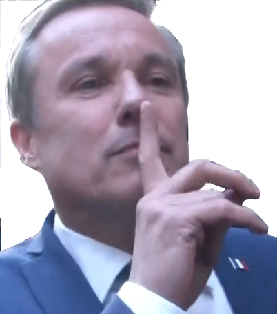 Sticker risitas nda nicolas dupont aignan debout la france
