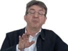 Sticker politic melenchon excusez main meluche pardon
