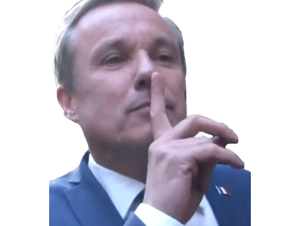 Sticker politic nda debout la france dupont aignan lepen fn
