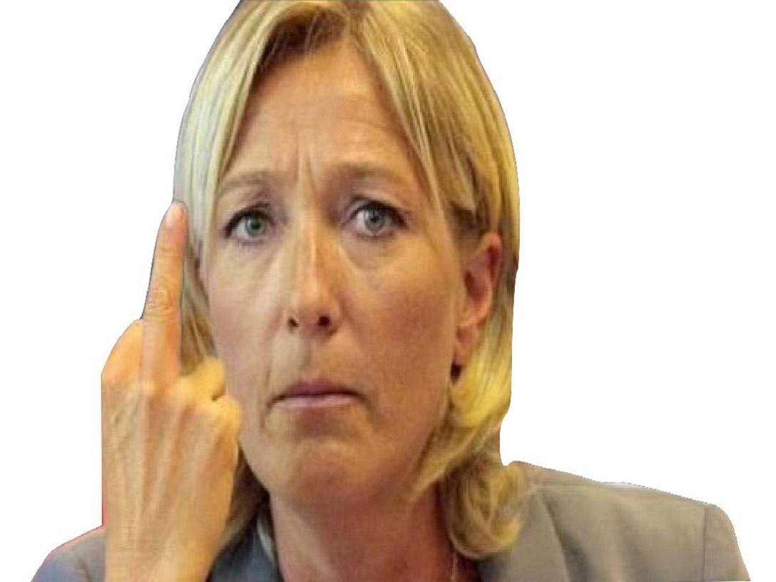 Sticker risitas marine le pen mlp politique politicien putain doigt dhonneur