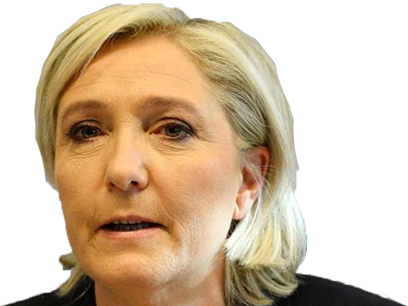 Sticker politic marine le pen blasee front national fn politique