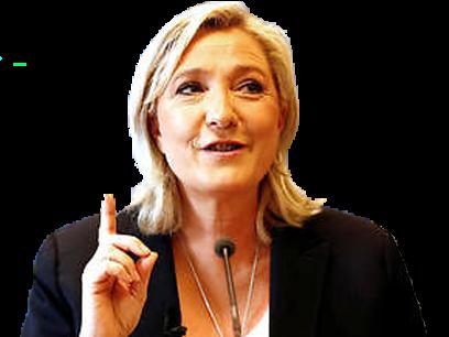 Sticker politic marine le pen djihad nationaliste front national fn doigt politique